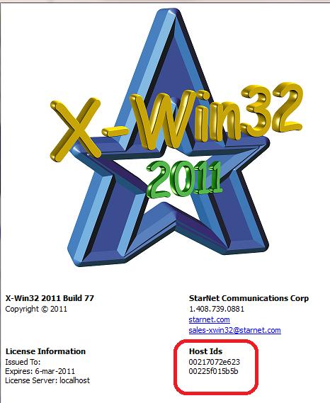 X-Win32 Host Id